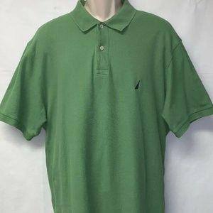 Nautica Men Polo Shirt Olive Green Size XL